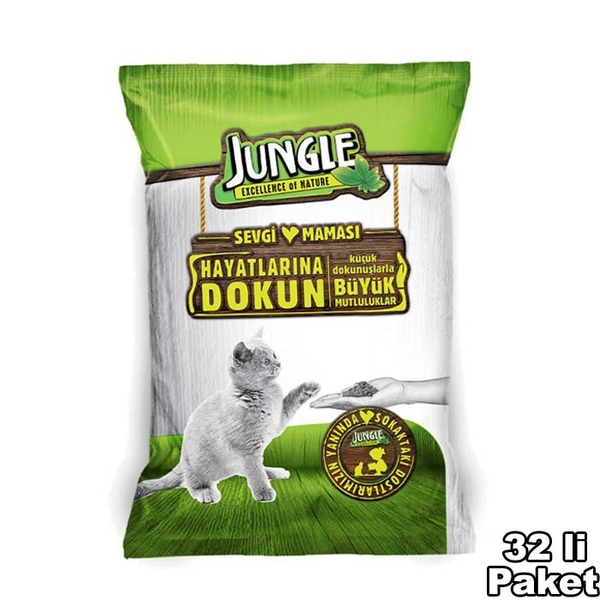 Jungle Adult Cat Food with Chicken 100g **32PCS**