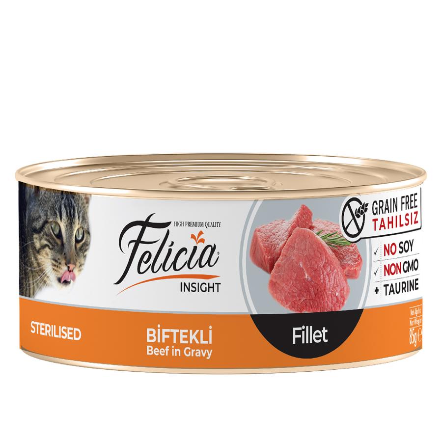 Felicia  Adult Sterilised Beef in Gravy 85gr 24pcs