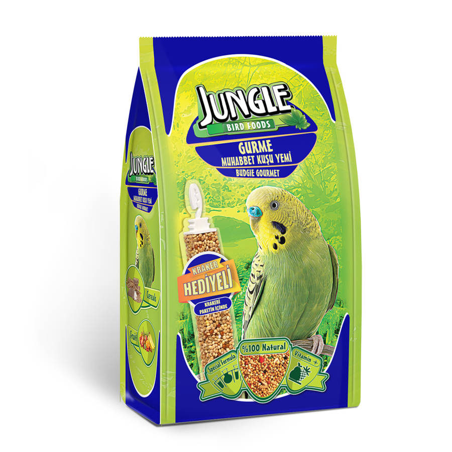 Jungle  Budgie Gourmet Food 400 gr 12 pcs with cracker in package