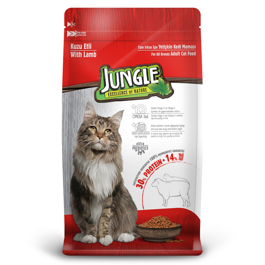 Jungle Adult Cat Food with Lamb 15 kg