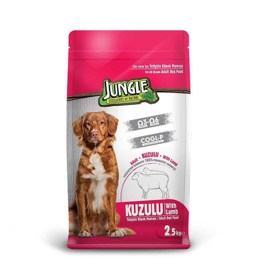 Jungle Adult Dog Food with Lamb 2,5 kg