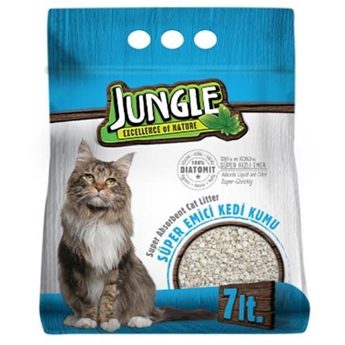 JUNGLE-DIATOMITE CAT LITTER 7 LT NO SMELL 1-7 MM *6 PCS*