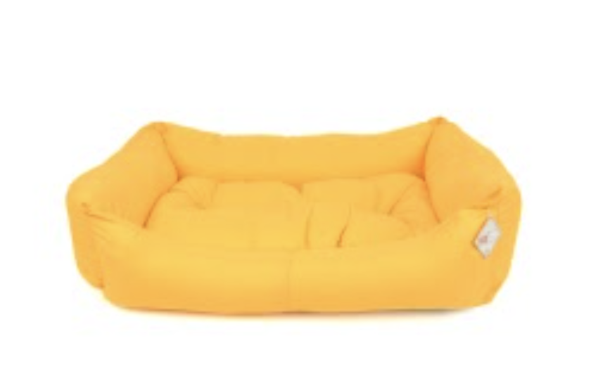 TEXTURE BED NO : 4 YELLOW 90x70x20 cm