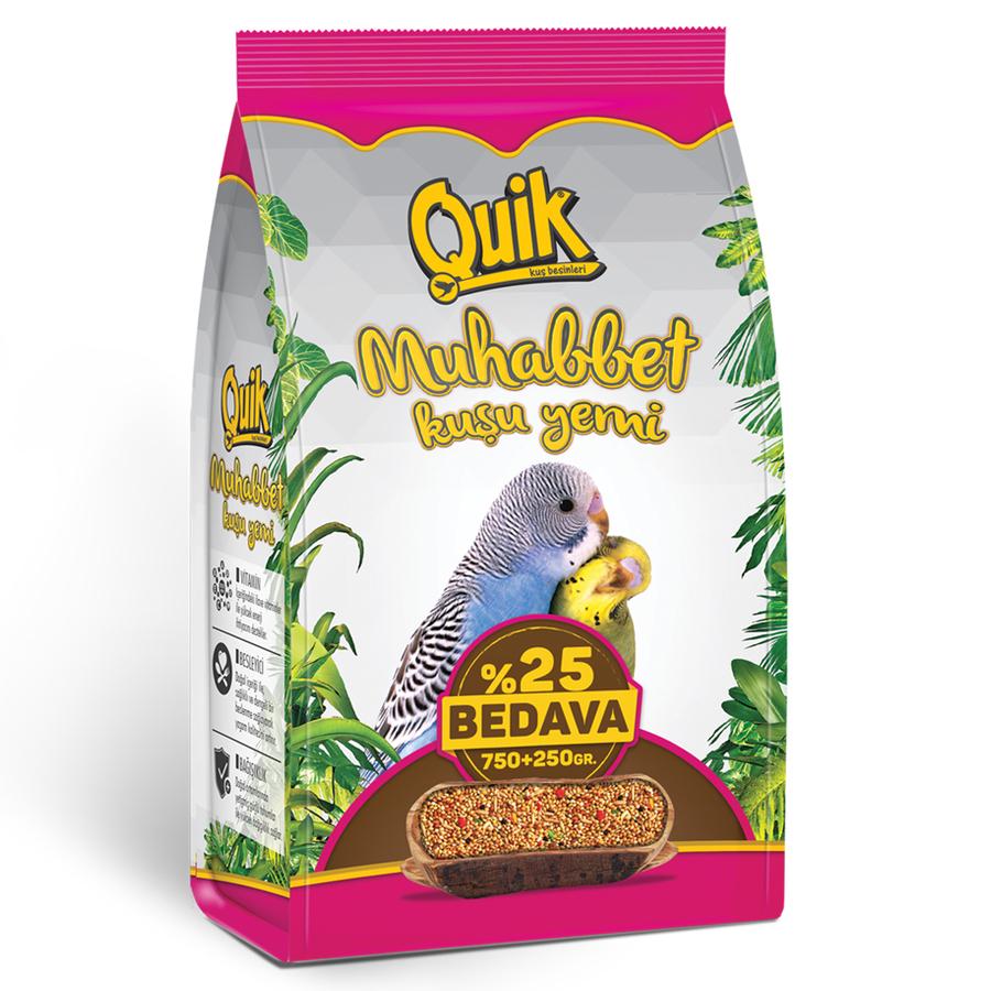 Quik Budgie Food 750 + 250 g. (5 PCS)
