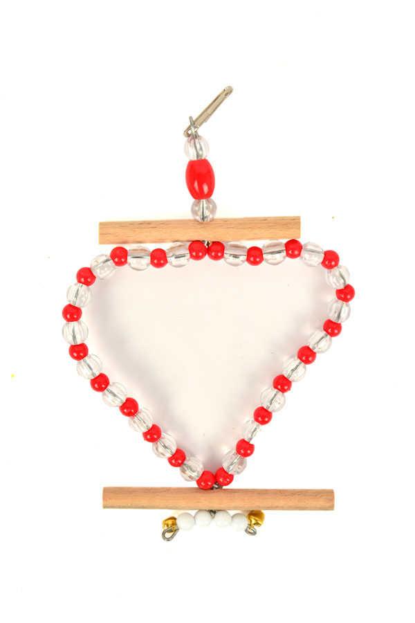 Bird Heart Swing with Bead 5 pcs