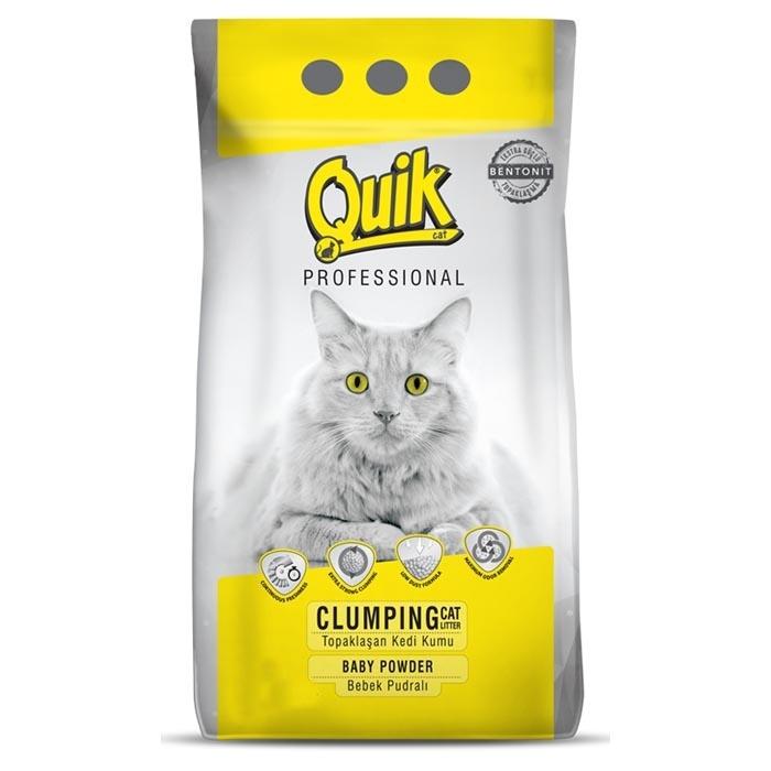 QUIK-BENTONITE CAT LITTER 5 LT  BABY POWDER 0,6-2,25 MM