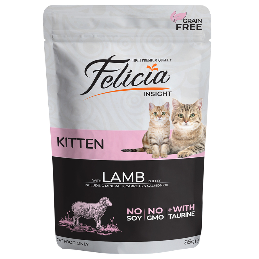 Felicia Complete canned pet food for kittens with lamb in jelly 85gr
