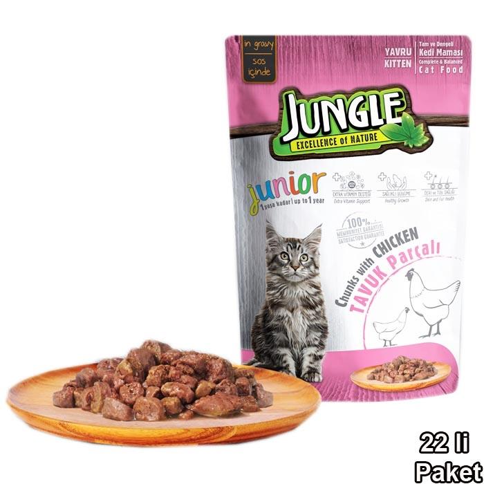 Jungle Pouch 100 g Kitten Chicken in Gravy (22 pcs)