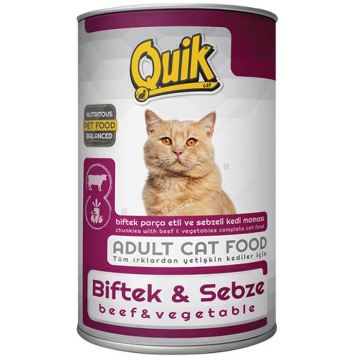QUIK CAT 415 gr beef & vegetable  (24Pcs)