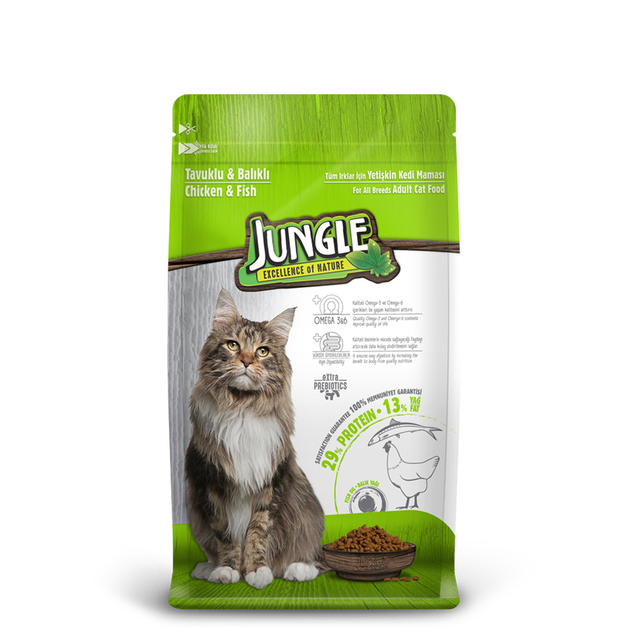Jungle Adult Cat Food with Chicken-Fish 500 g