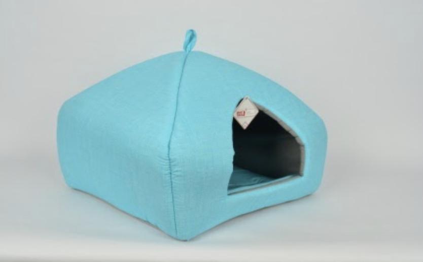 PYRAMIT BED BLUE 43X40X40 CM