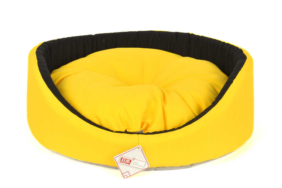 BUTTERFLY RING SHAPED BED YELLOW 50X16CM