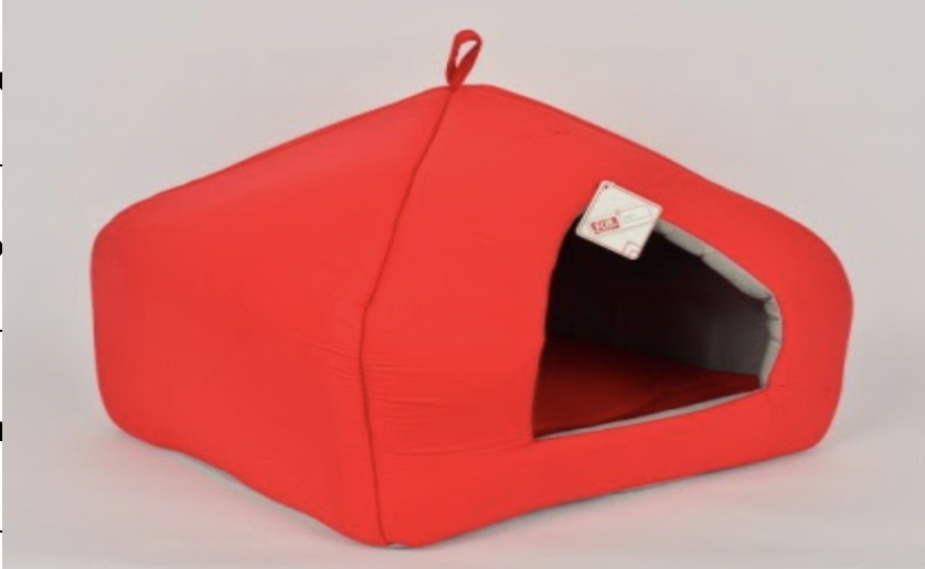 PYRAMIT BED RED 43X40X40 CM