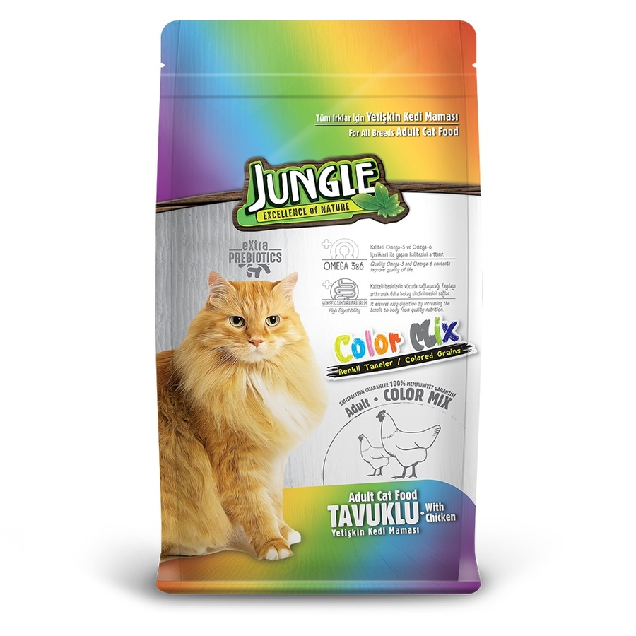 Jungle Colourmix Cat Food with Chicken 15 kg