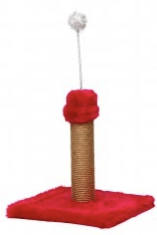 Flip Short Single Toy Scratching Post