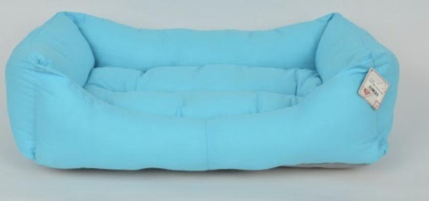 TEXTURE BED NO : 3 BLUE 80x55x20 cm