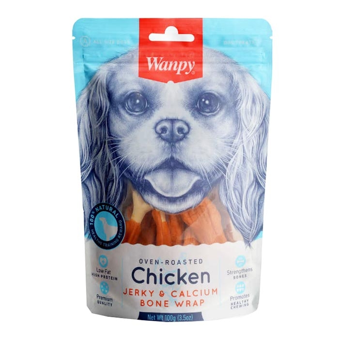 CE-16H CHICKEN JERKY WRAPPED CALCIUM BONE 100 g