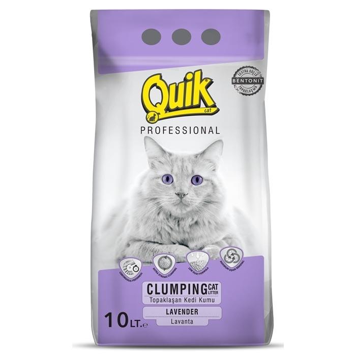 QUIK-BENTONITE CAT LITTER 10 LT  LAVENDER 0,6-2,25 MM