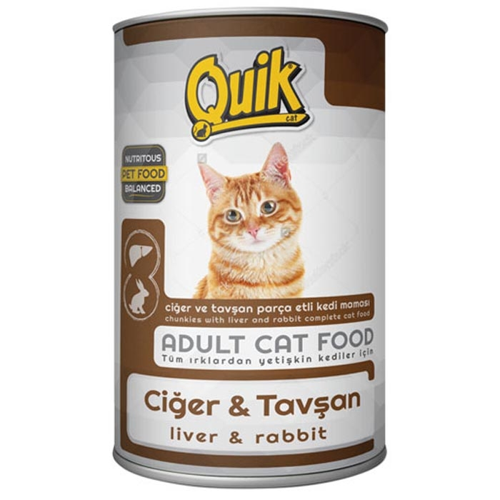 QUIK CAT 415 gr LIVER& RABBIT  (24Pcs)