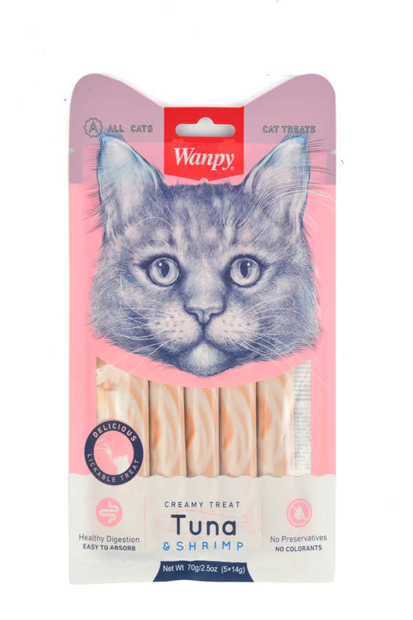 RA-050 LICKABLE TREAT TUNA & SHRIMP FOR CAT 14 g & 5 pcs