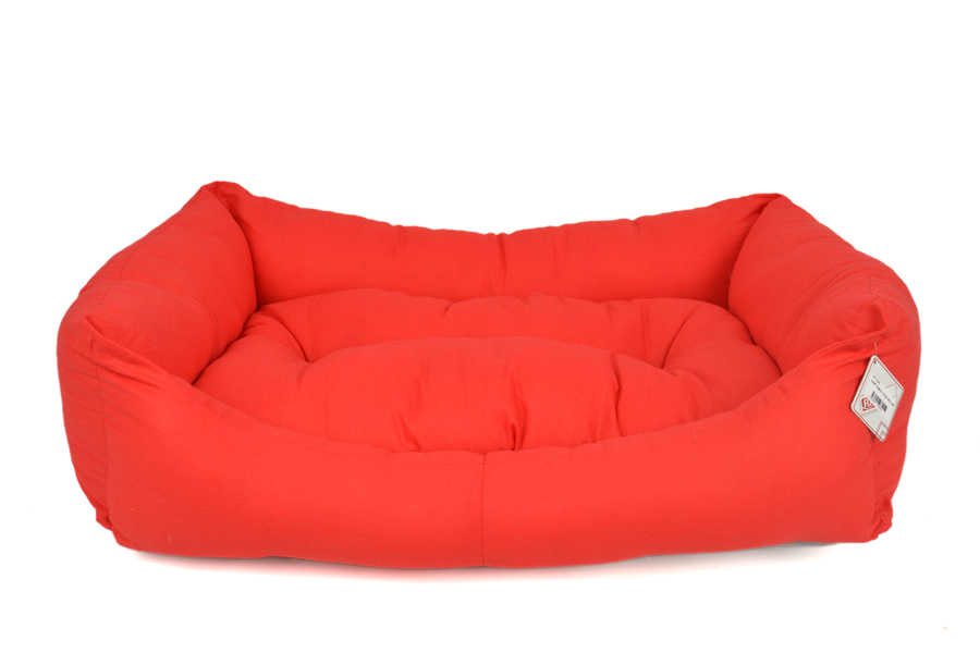 TEXTURE BED NO : 3 RED 80X55X20 CM