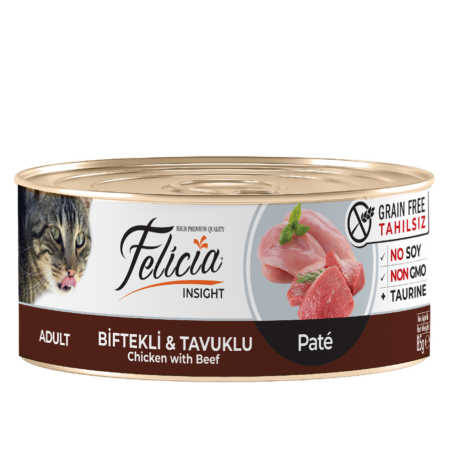 Felicia Adult  Chicken with Beef  85gr 24pcs