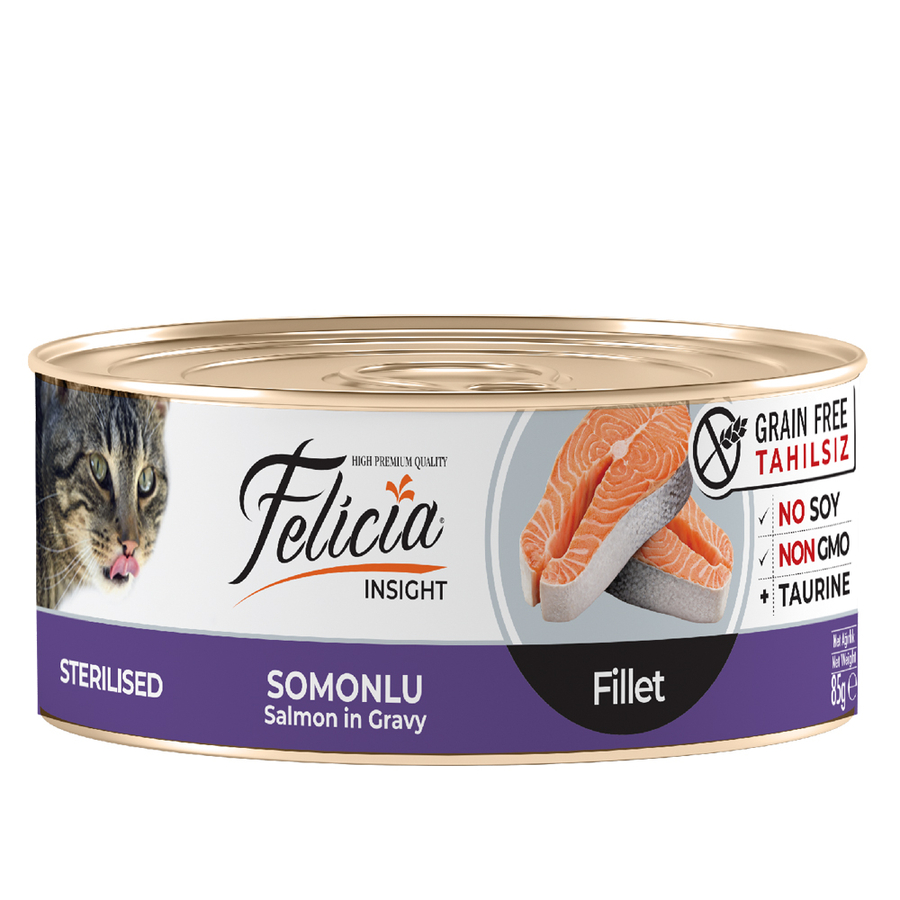 Felicia  Adult Sterilised Salmon in Gravy 85gr 24pcs