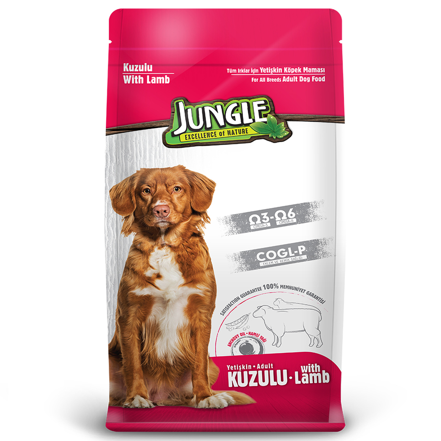 Jungle Adult Dog Food with Lamb 15 kg