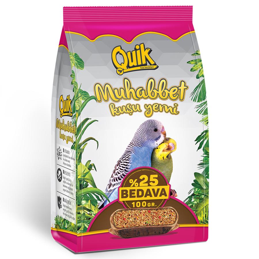 Quik Budgie Food 400 + 100 g. (12 PCS)