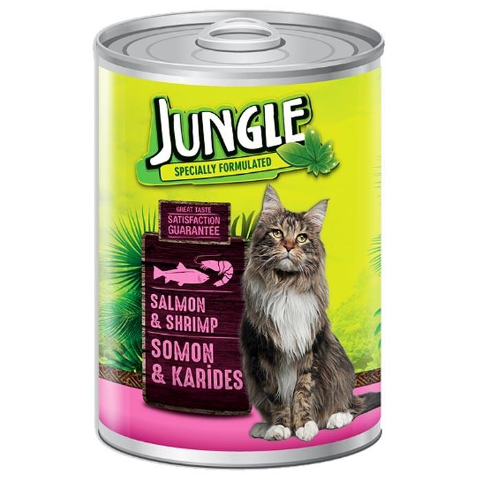 Jungle Cat Cans 415 gr Salmon-Shrimp (24Pcs)