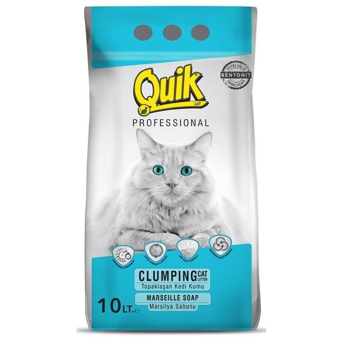 QUIK-BENTONITE CAT LITTER 10 LT MARSELLIE SOAP 0,6-2,25 MM *2PCS*