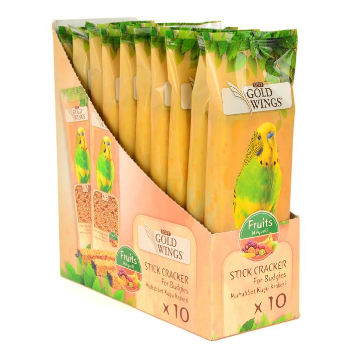 Goldwings Budgie Fruit Triple Stick (10 pcs) 0.105GRX10PCS