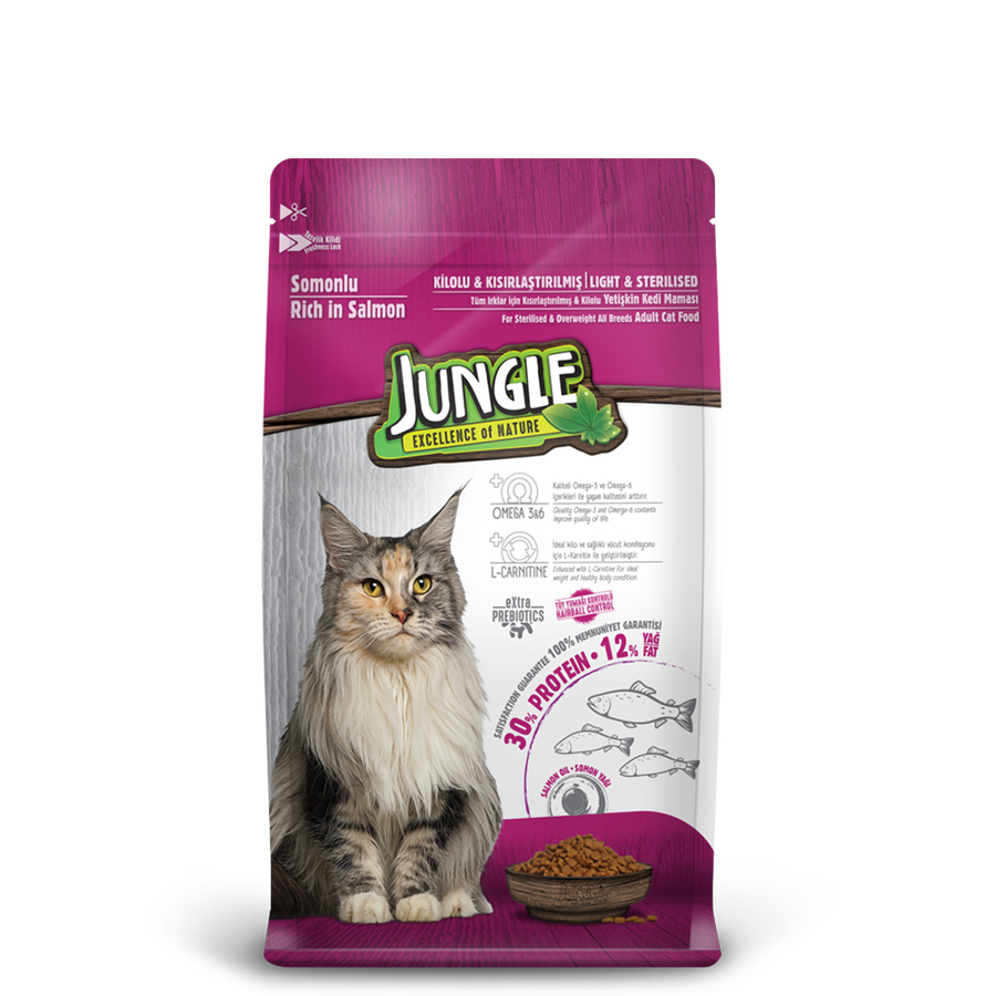 Jungle Adult  Sterilesed Cat Food with Salmon 500 g