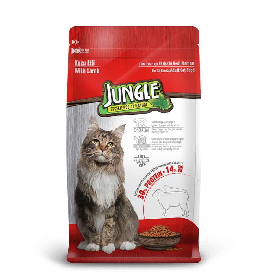 Jungle Adult Cat Food with Lamb 1,5 kg