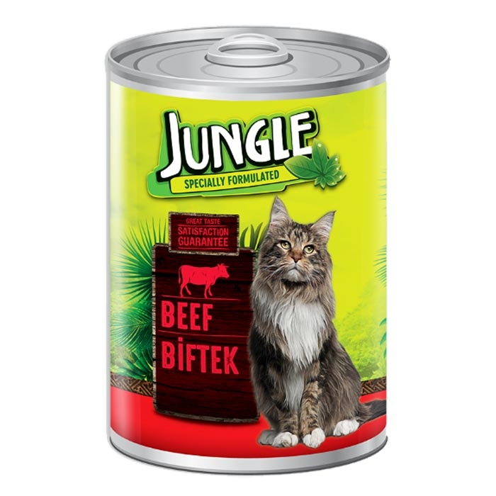 Jungle Cat Cans 415 gr Beef (24Pcs)