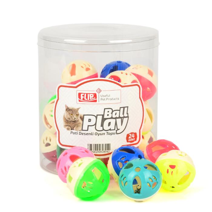 Flip Cat Play Ball Paw Pattern 24pcs
