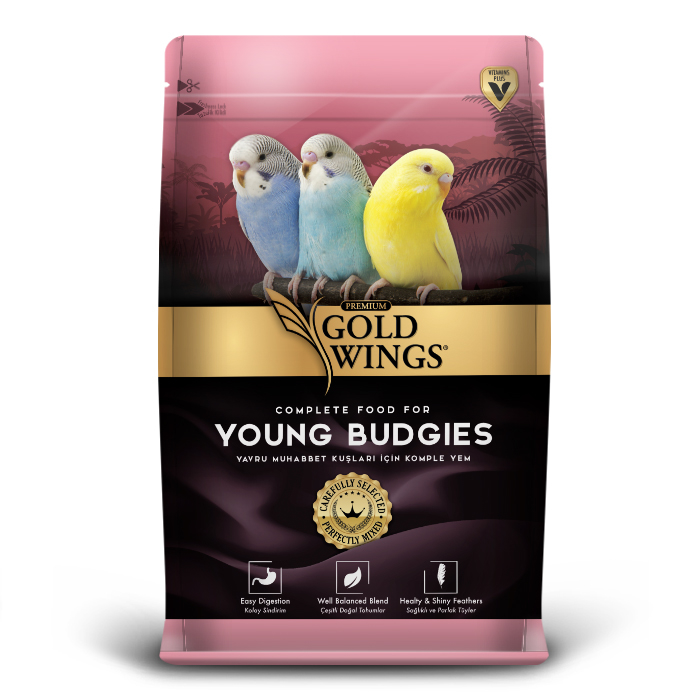 Goldwings Young Budgie Food 1 kg (5 pcs)