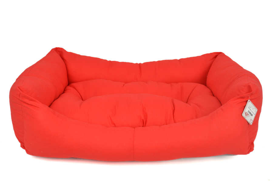 TEXTURE BED NO : 4 RED 90X70X20CM