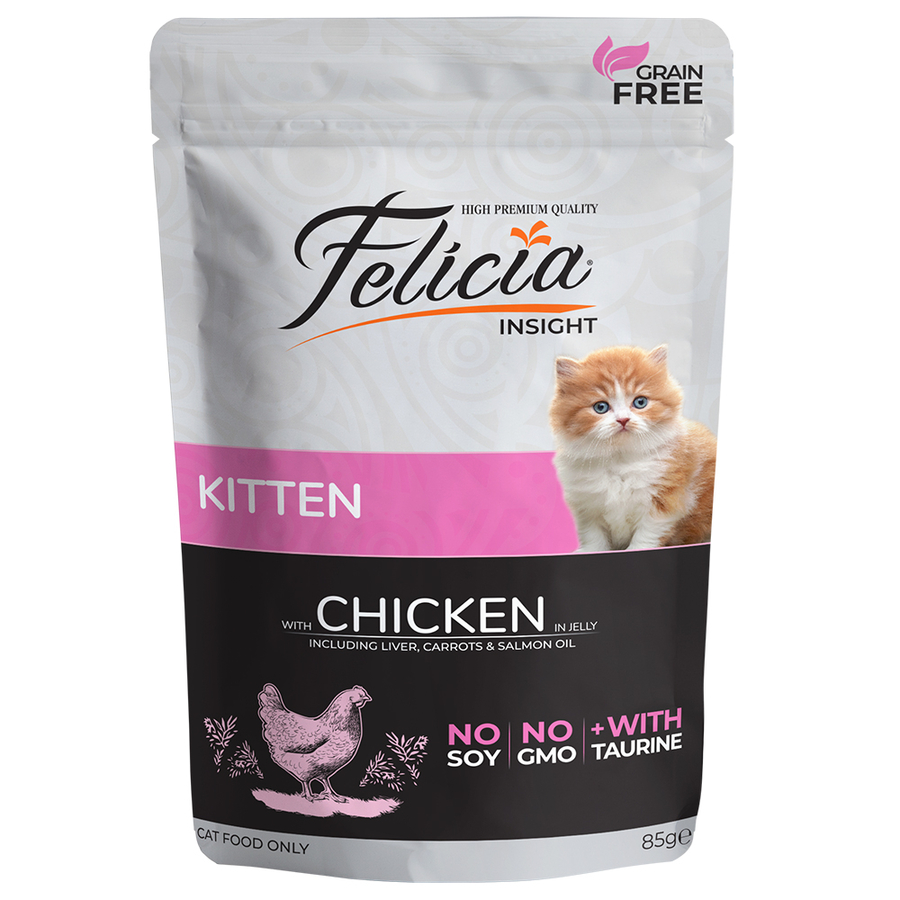 Felicia Complete canned pet food for kittens with chicken in jelly 85gr