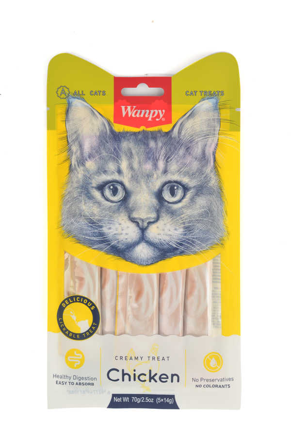 RA-049 LICKABLE TREAT CHICKEN FOR CAT 14 g*5 pcs