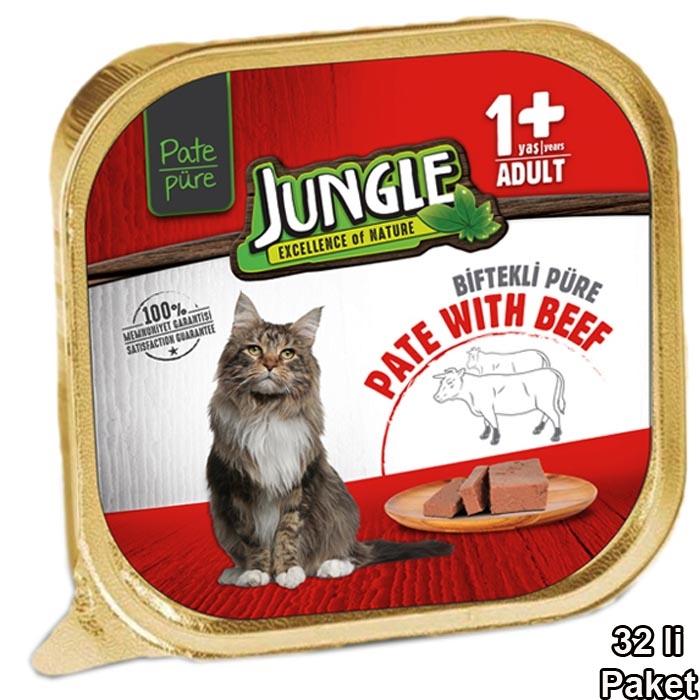Jungle Patte 100 g Adult Beef  (32 pcs)